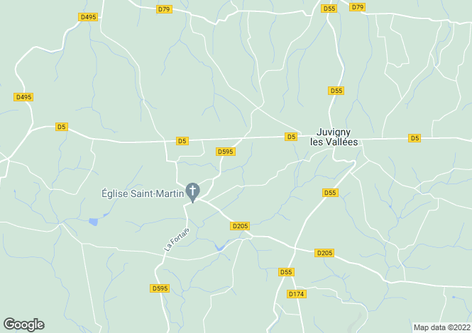 Map for Juvigny-Le-Tertre, Basse-Normandie, 50520, France