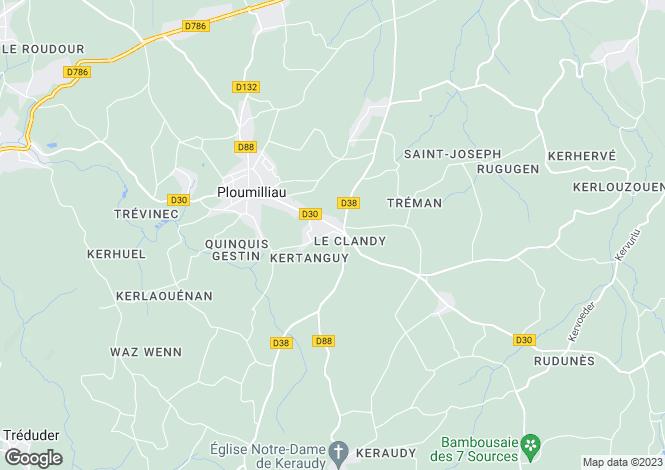 Map for Ploumilliau, Bretagne