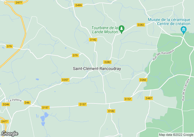 Map for Saint-Clement-Rancoudray, Basse-Normandie, 50140, France
