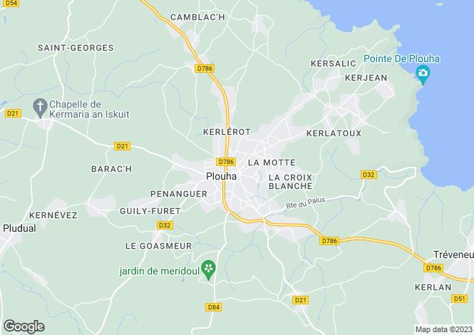 Map for PLOUHA, Bretagne