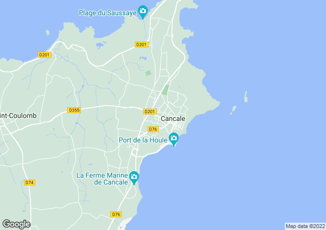 Map for CANCALE, Bretagne