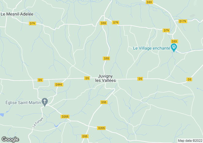 Map for Normandy, Manche, Juvigny-le-Tertre