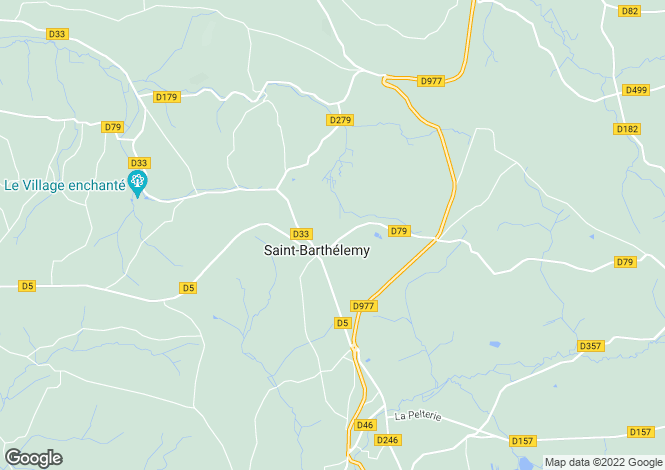Map for st-barthelemy, Manche, France