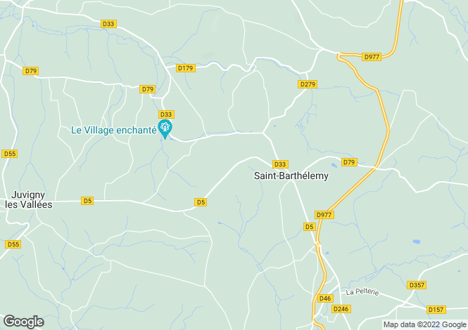 Map for Near Bellefontaine, Manche, Lower Normandy