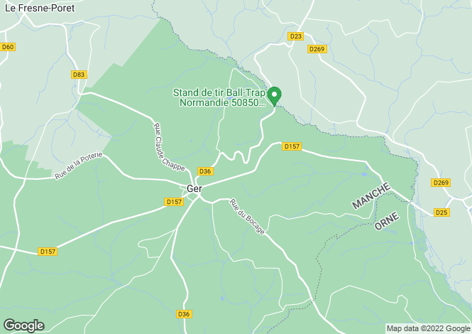 Map for 50850 GER, Manche, France