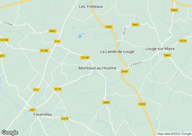 Map for Montreuil-au-Houlme, Orne, 61210, France