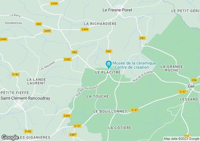 Map for Le Fresne-Poret, Basse-Normandie, 50850, France