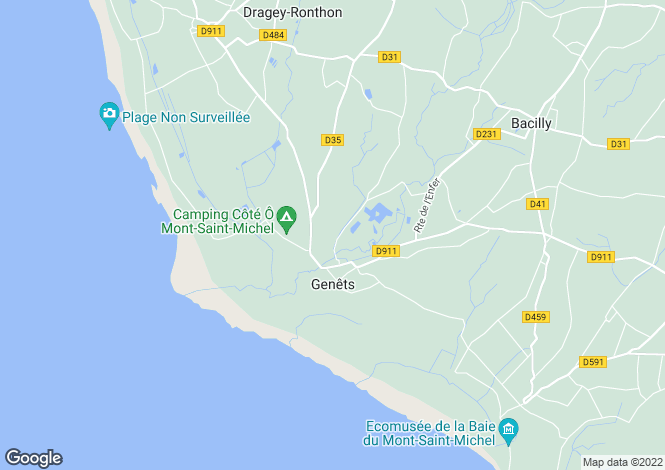 Map for Normandy, Manche, Genêts