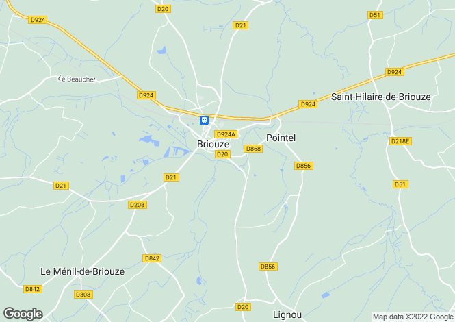 Map for briouze, Orne, France