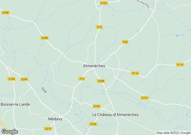 Map for Normandy, Orne, Almenêches