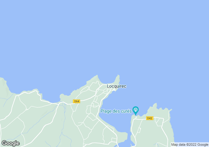 Map for locquirec, Finistère, France