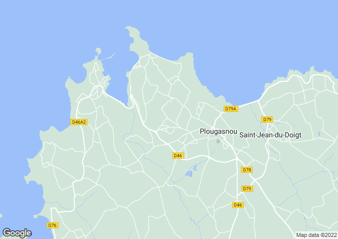 Map for Brittany, Finistère, Plougasnou