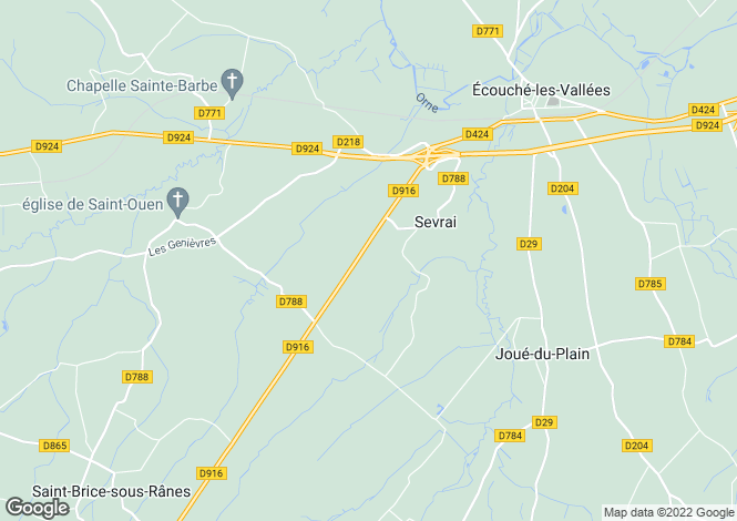 Map for sevrai, Orne, France