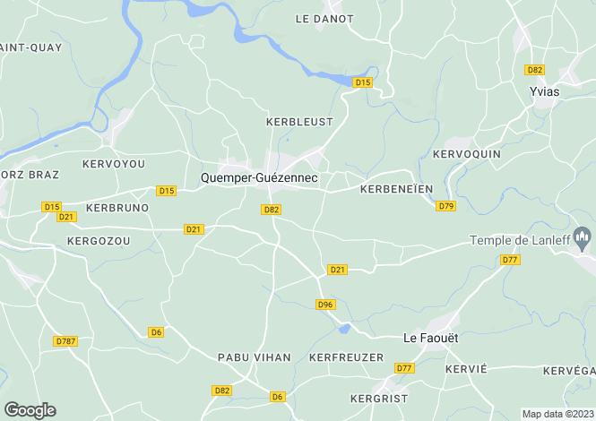 Map for Brittany, Côtes-d'Armor, Quemper-Guézennec
