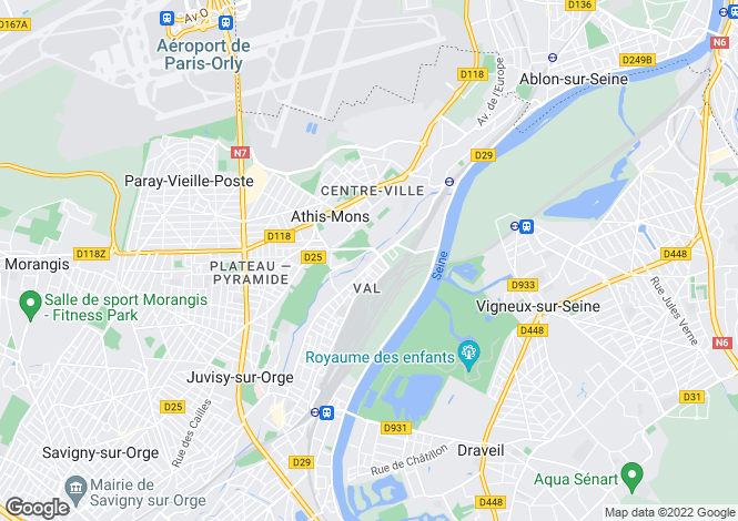 Map for Paris-Isle of France, Essonne, Athis-Mons