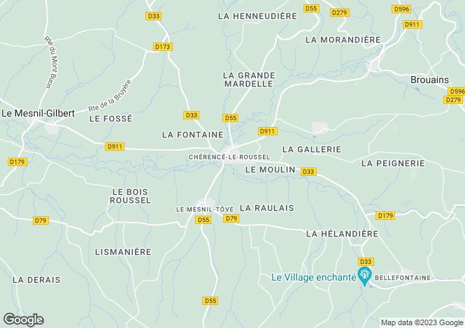 Map for Chérencé-le-Roussel, Manche, Normandy