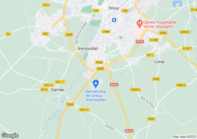 Map for vernouillet, Eure-et-Loir, France