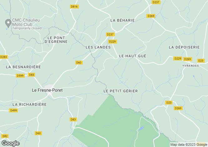 Map for Normandy, Orne, near Saint Jean des Bois