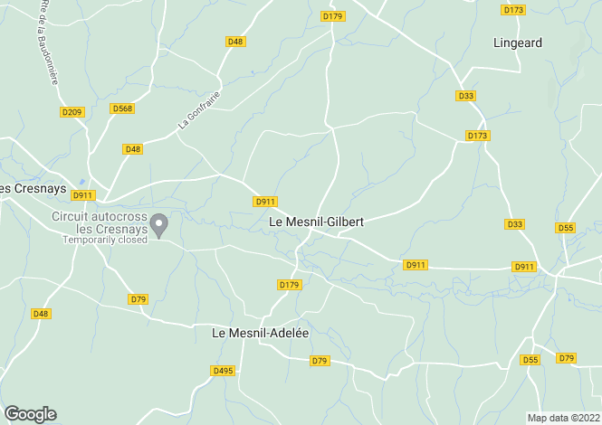 Map for Le Mesnil-Gilbert, Manche, Normandy