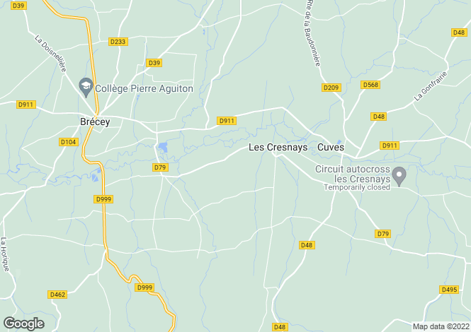 Map for Les Cresnays, Manche, Normandy