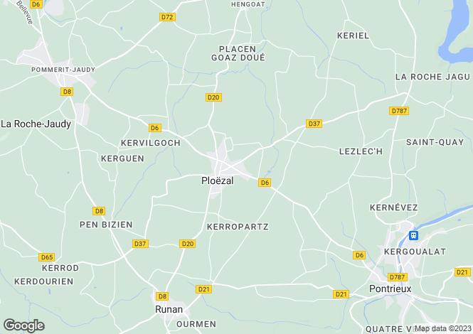Map for PLOEZAL, Bretagne