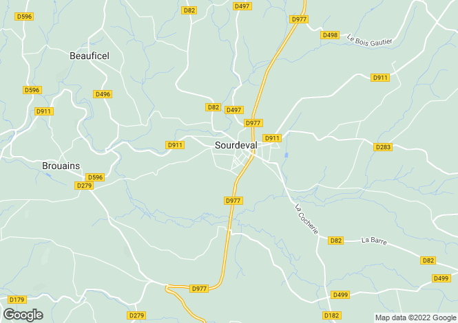 Map for Sourdeval, Manche