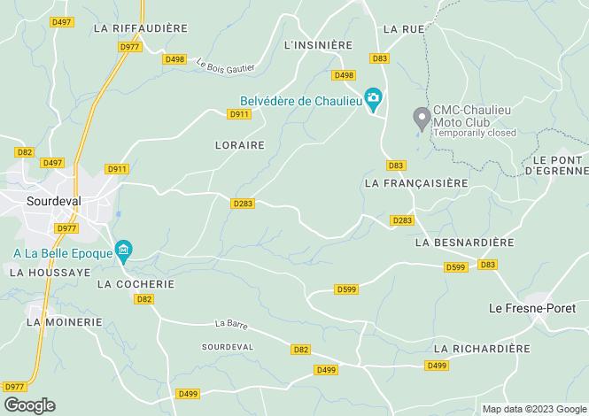 Map for Sourdeval, Basse-Normandie, 50150, France
