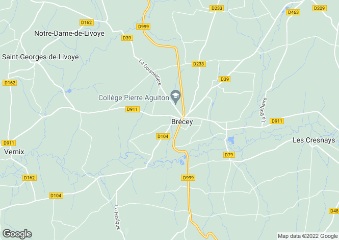 Map for BRECEY, Basse-Normandie
