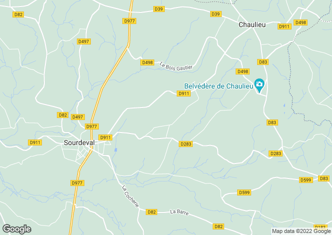 Map for Sourdeval, Basse-Normandie, 50150, France