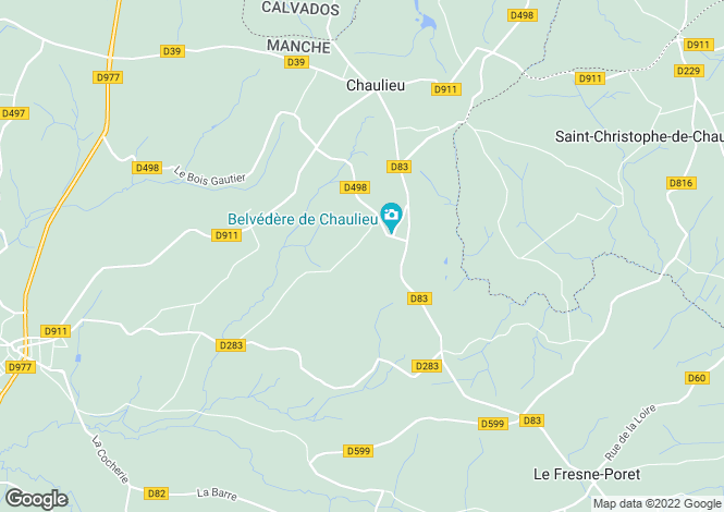 Map for Normandy, Manche, Chaulieu