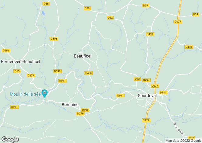 Map for beauficel, Manche, France