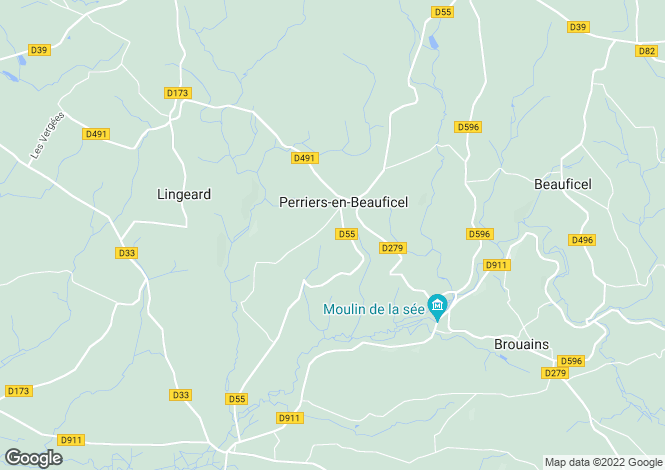 Map for Perriers-En-Beauficel, Manche, 50150, France