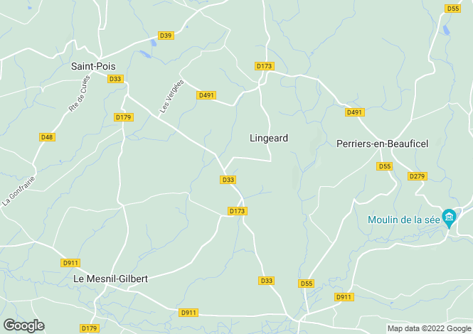 Map for Normandy, Manche, St Michel de Montjoie
