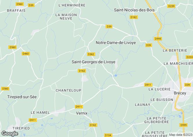 Map for st-georges-de-livoye, Manche, France