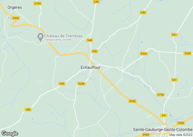Map for echauffour, Orne, France