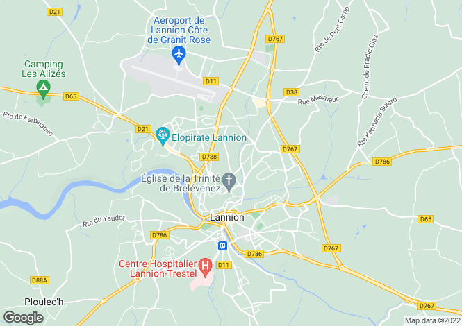 Map for LANNION, Bretagne