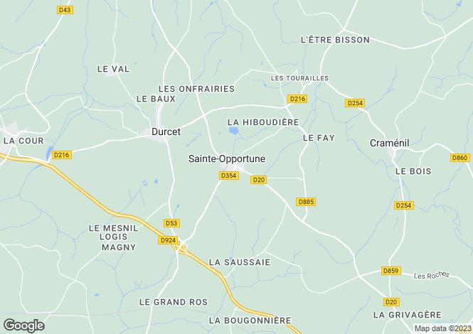 Map for ste-opportune, Orne, France