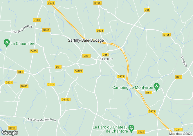 Map for Normandy, Manche, near Sartilly