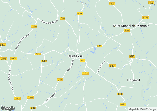 Map for Normandy, Manche, near Saint Pois