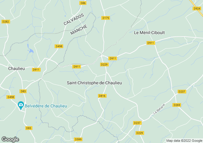 Map for Normandy, Orne, Saint Christophe de Chaulieu