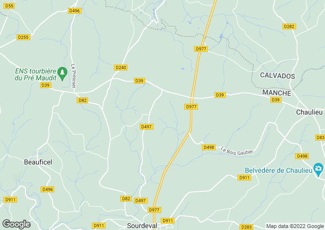 Map for Normandy, Manche, near Vengeons