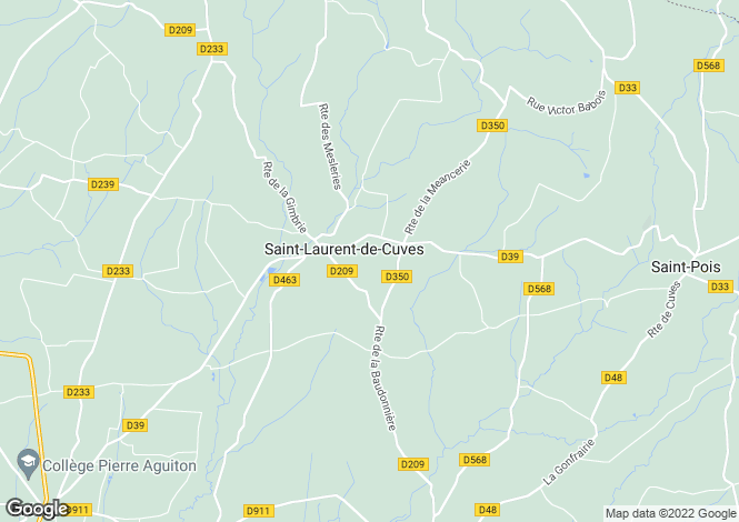 Map for Saint-Laurent-de-Cuves, Manche, 50670, France