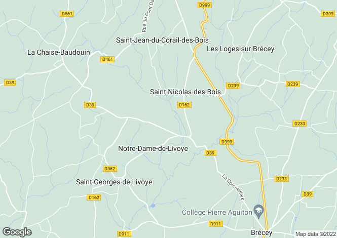 Map for Normandy, Manche, Notre-Dame-de-Livoye