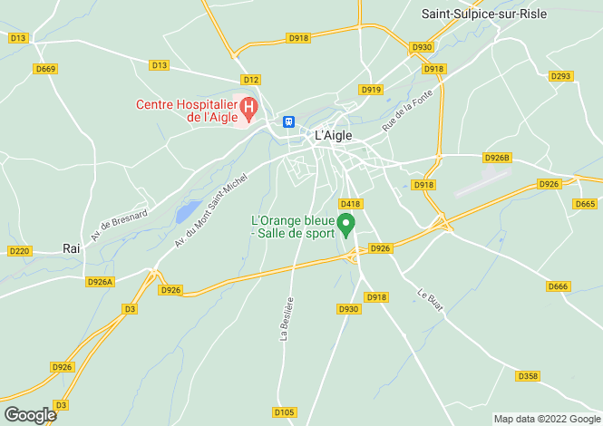 Map for Large Country House, Near L'Aigle, Normandy