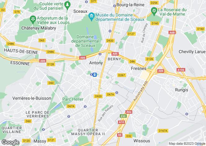 Map for Paris-Isle of France, Hauts-de-Seine, Antony