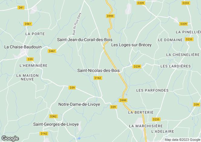 Map for Saint-Nicolas-des-Bois, Manche, 50370, France