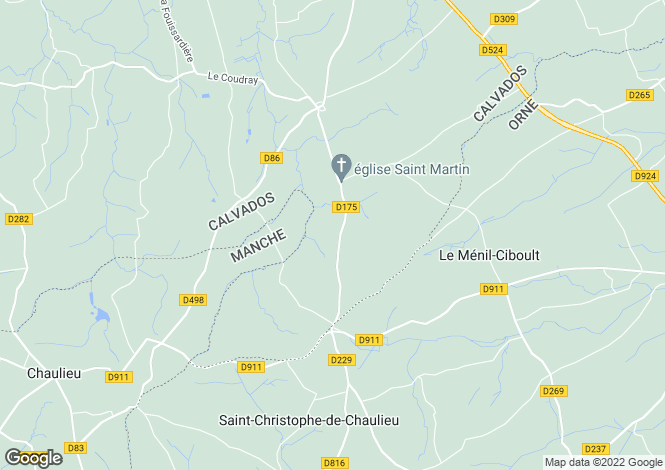 Map for Normandy, Calvados, Truttemer le Petit