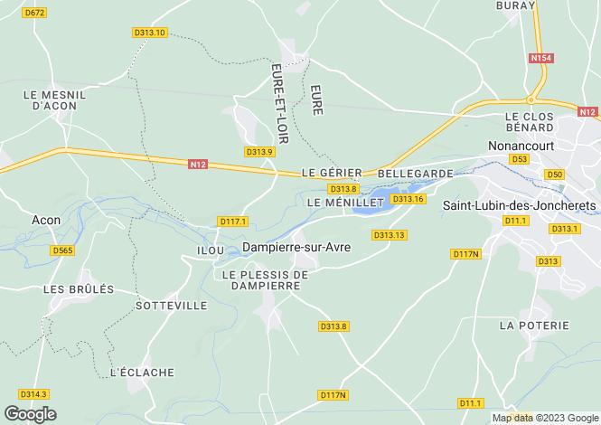 Map for dampierre-sur-avre, Eure-et-Loir, France