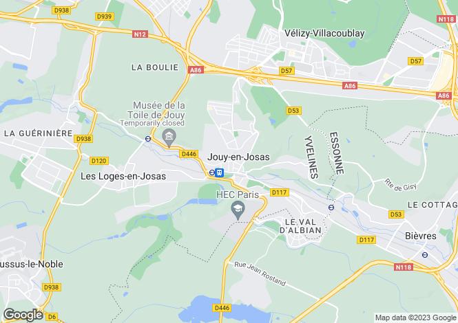 Map for jouy-en-josas, Yvelines, France