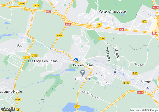 Map for Paris-Isle of France, Yvelines, Jouy-en-Josas